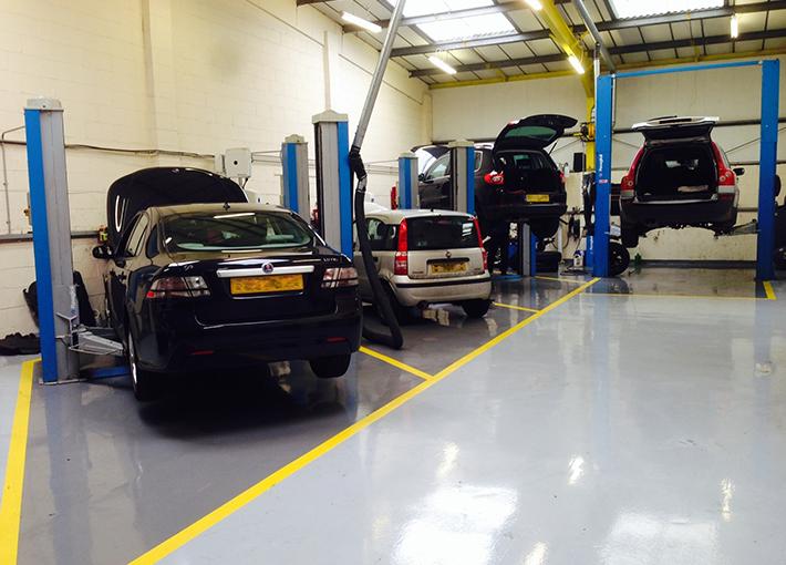 Workshops for Mechanic shop flooring